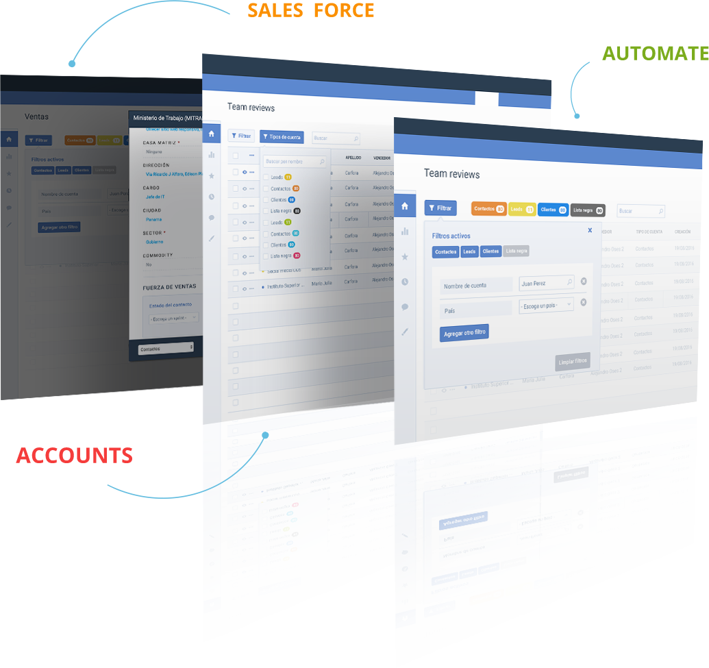Sales force, automate, accounts